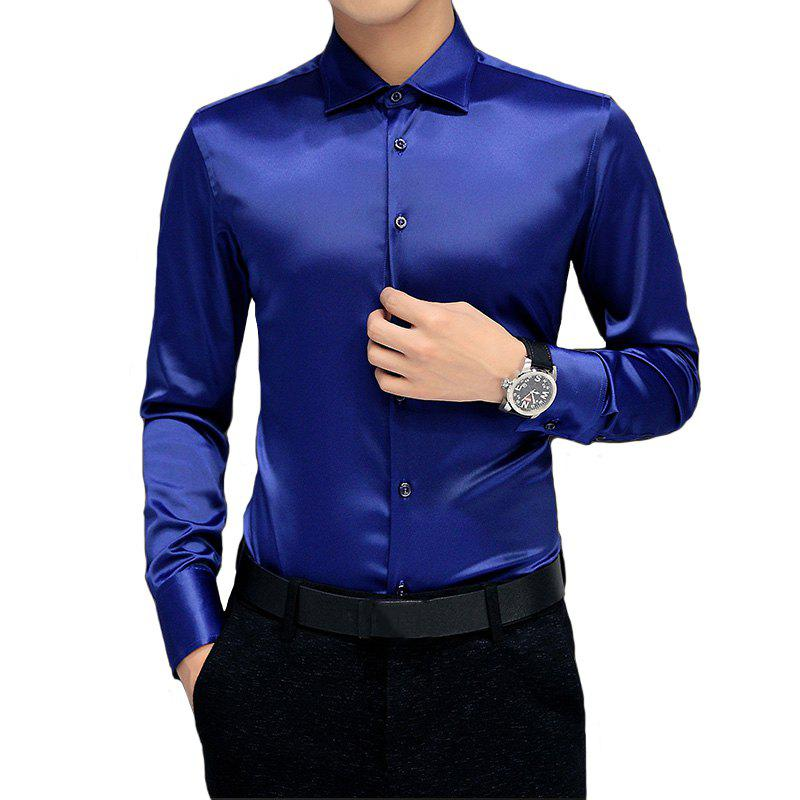 Fashion Men'S All-Color Long-Sleeved Shirt Jacket Casual Shirt