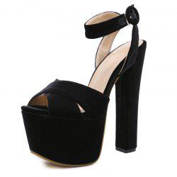 Women's Peep Toe Platform Open Toe Sandals London Party High Heels -