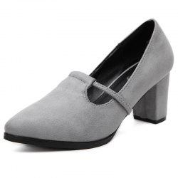 Women's Pointed Toe Chunky Heel Shoes Leisure Pumps -