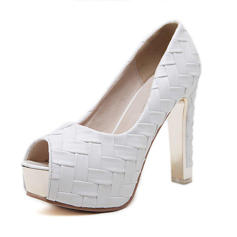 Affordable Women's Peep Toe Platform Shoes Sexy Party High Heels