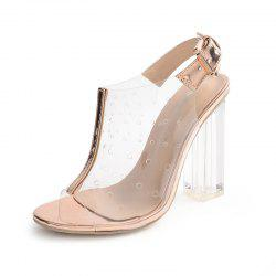 Women's Square Heel Sandals Fashion High Heels -