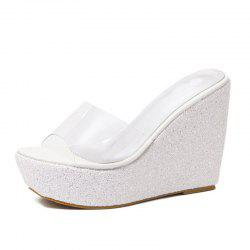 Women's Wedge Mule Shoes Concise Slippers -