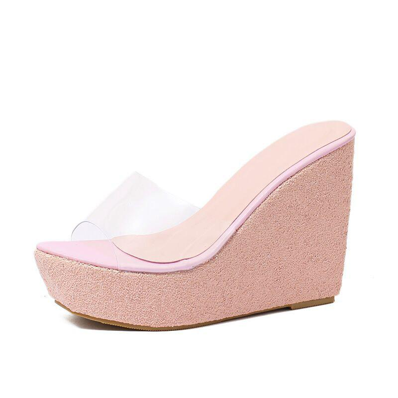 New Women's Wedge Mule Shoes Concise Slippers
