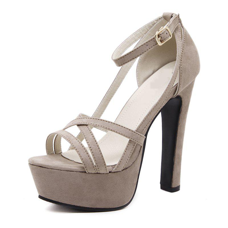 Chic Women's Platform Open Toe High Heels Luxury Party Sandals with Cut Out