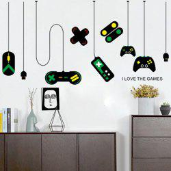 Game Handle Wall Post The Internet Bar Computer Desk Background Stickers -