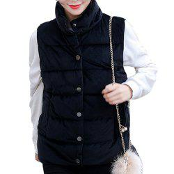 Women'S Short Autumn Cotton Jacket Waistcoat -