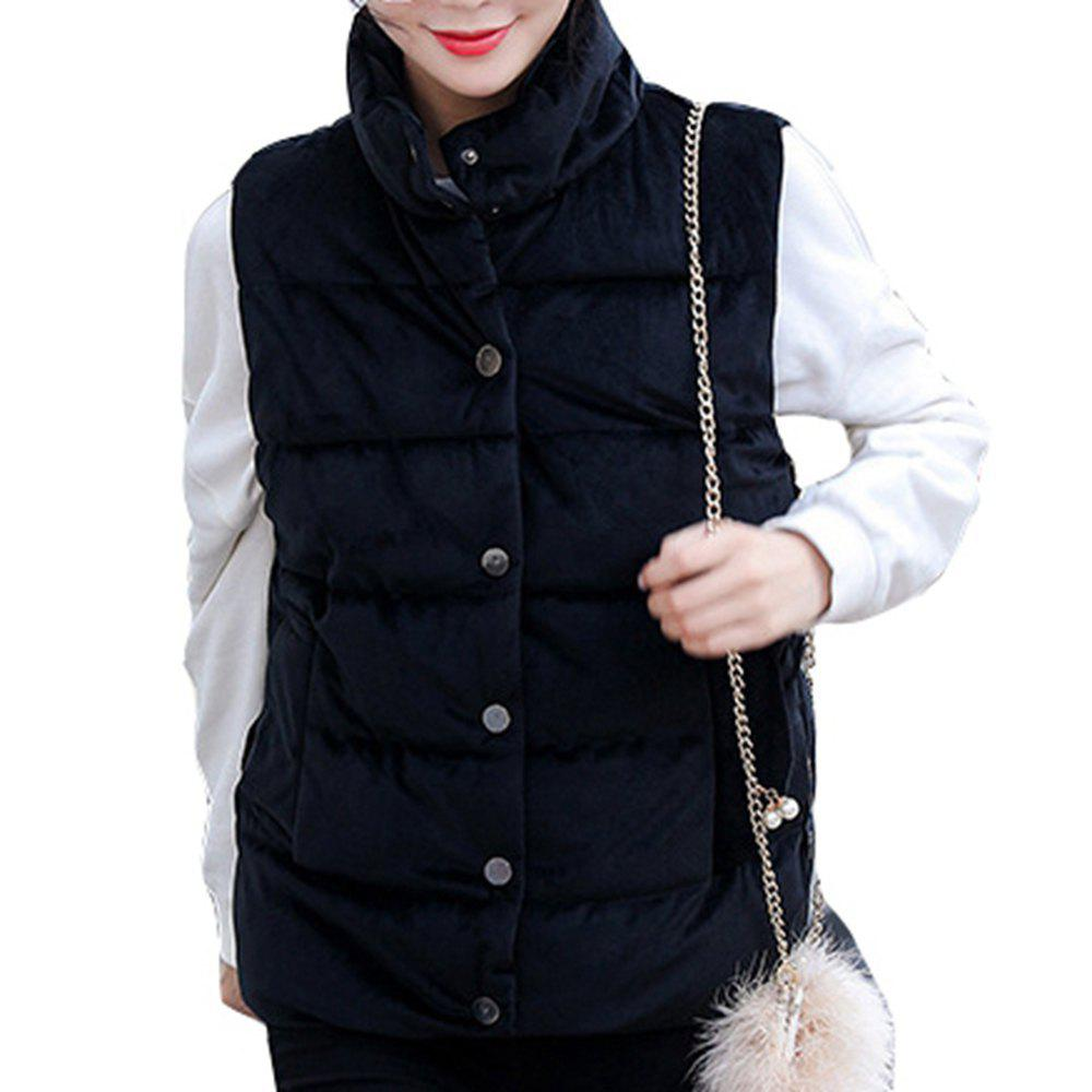 Trendy Women'S Short Autumn Cotton Jacket Waistcoat
