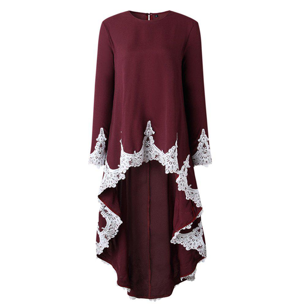 Outfit Fashion Lace Ruffles Long - Sleeved Dresses