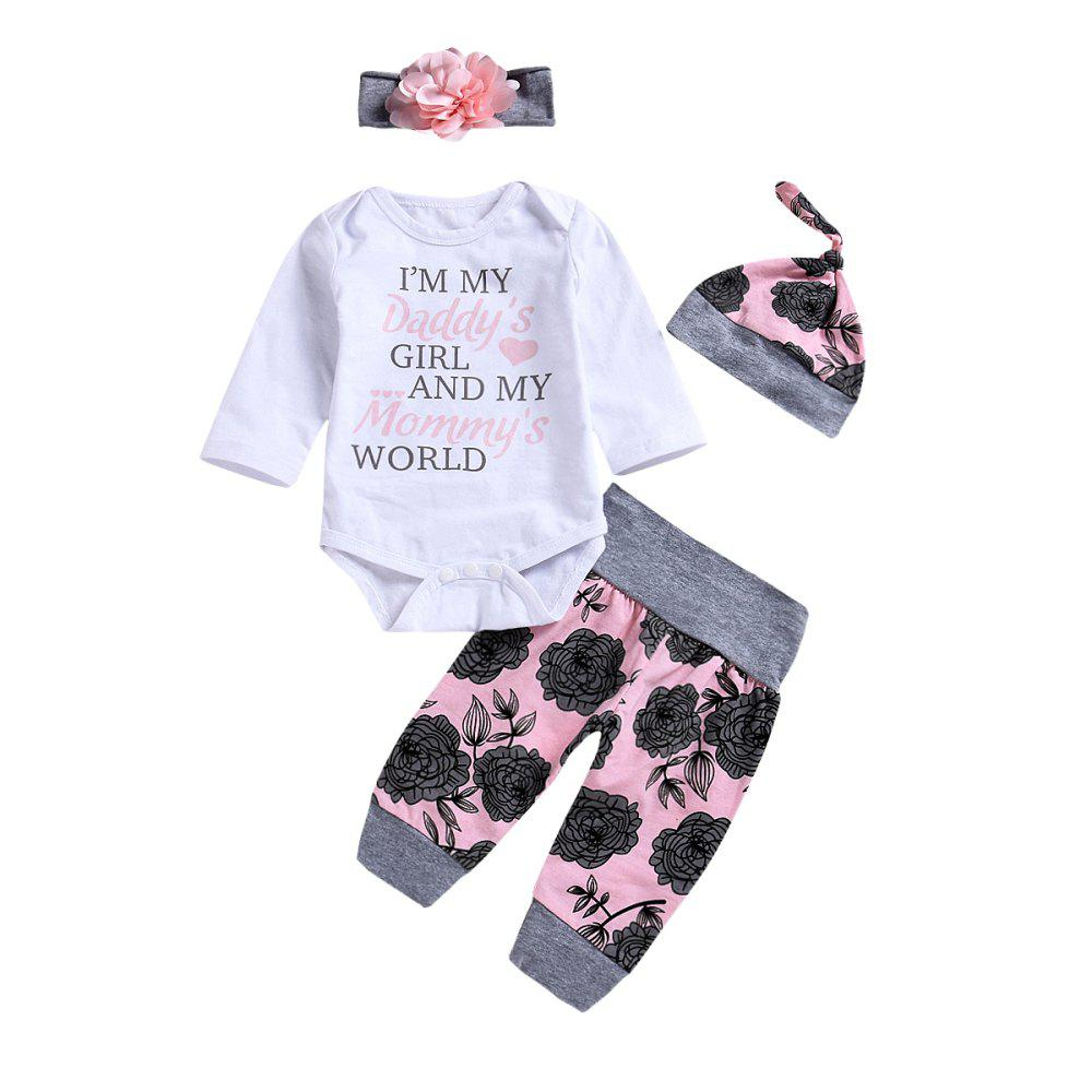 Outfits High Quality White Blouse with Flower and Broken Trousers Hat Head with Four Pi