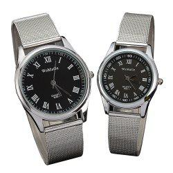 Fashion Lovers' Wristwatch Rome Silver Belt Men's and Women's Watches -