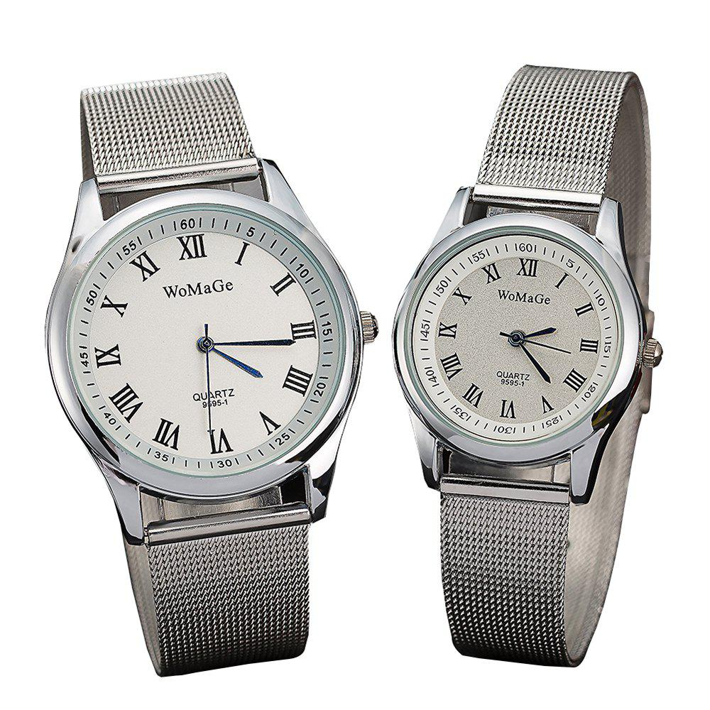 Shops Fashion Lovers' Wristwatch Rome Silver Belt Men's and Women's Watches