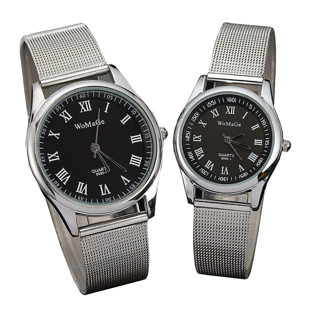 Buy Fashion Lovers' Wristwatch Rome Silver Belt Men's and Women's Watches