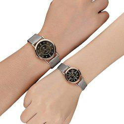 Fashion Lovers Watch Stainless Steel strap Diamond Dial Watch Watches -