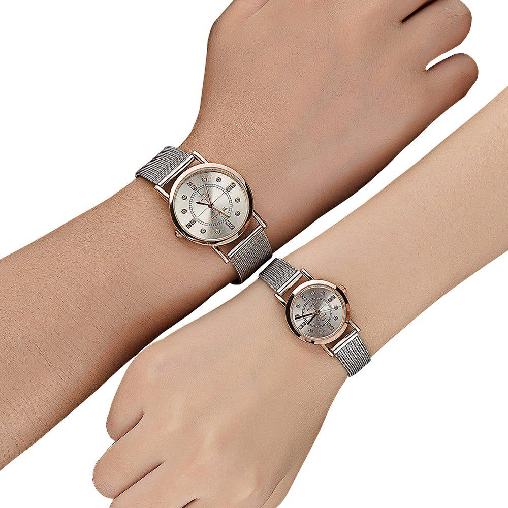 New Fashion Lovers Watch Stainless Steel strap Diamond Dial Watch Watches