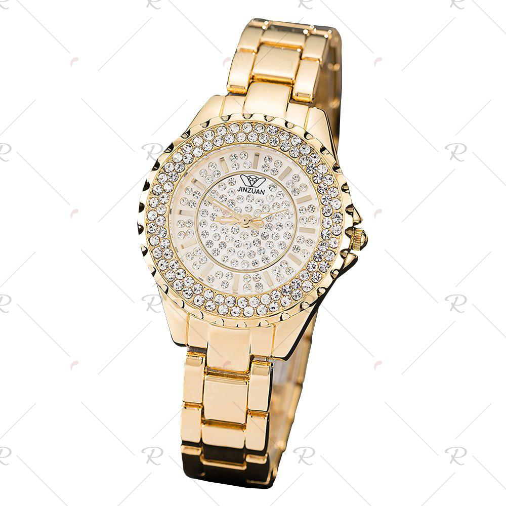 Sale Women Luxury Quartz High Quality IP Plated Gold Wristwatches Diamond Watch Dial