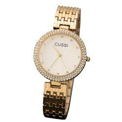 Fashion High-end steel Band Wrist Watch IGP Gold Plated Plated Diamond Watch -