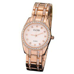 Female IGP Gold Steel Band Wrist Watch electroplated Waterproof Quartz Watch -