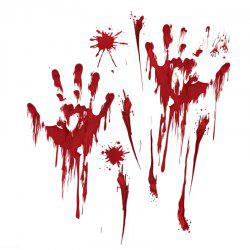 Halloween Wall Stickers Halloween Blood footprints and Fingerprints Stickers -