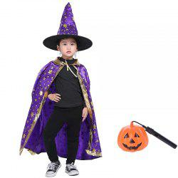 Children Witch Cosplay Cape Hat  Costume Sets for Halloween -