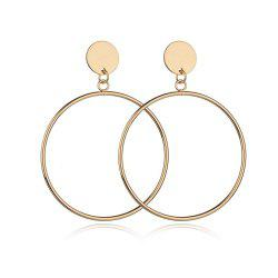 Women's Hoops Casual Simple Round Ring Design Trendy Earrings Accessory -