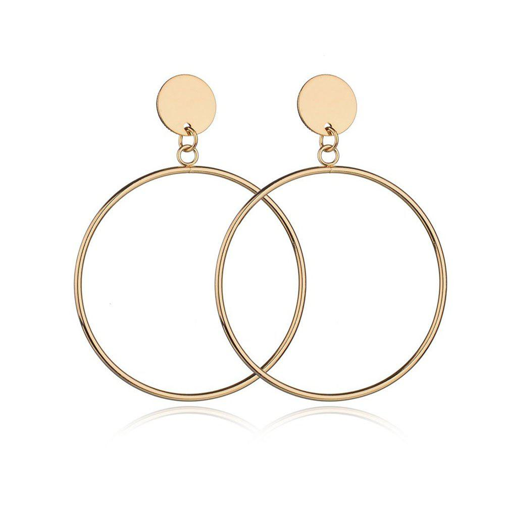 Fashion Women's Hoops Casual Simple Round Ring Design Trendy Earrings Accessory