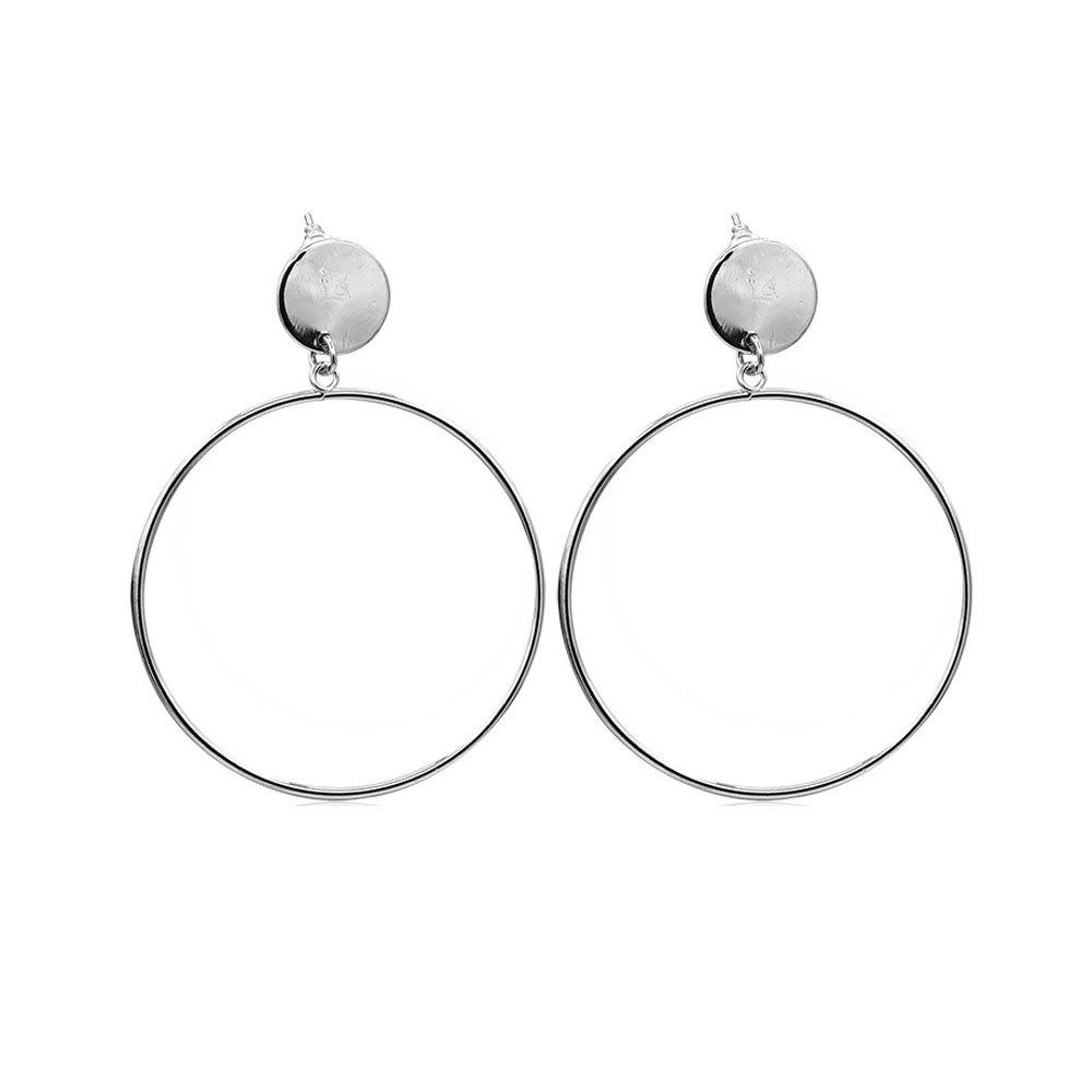 Outfits Women's Hoops Casual Simple Round Ring Design Trendy Earrings Accessory