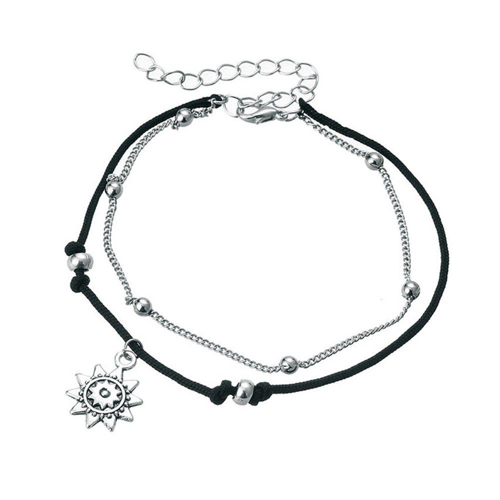 Trendy Bohemia Multi Layer Beads Anklets For Women