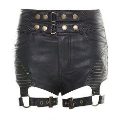 Sexy Tight PU Leather Short Pants -