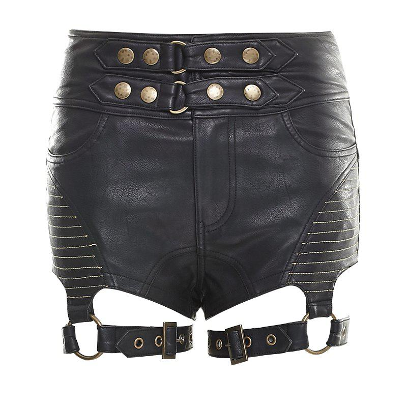 Buy Sexy Tight PU Leather Short Pants