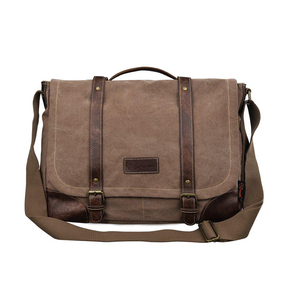 Affordable DGY Men s Canvas Shoulder Laptop Bags a22edfd9545c4