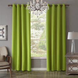 c20932 BBJHOME Green Blackout Curtain For Livingroom -