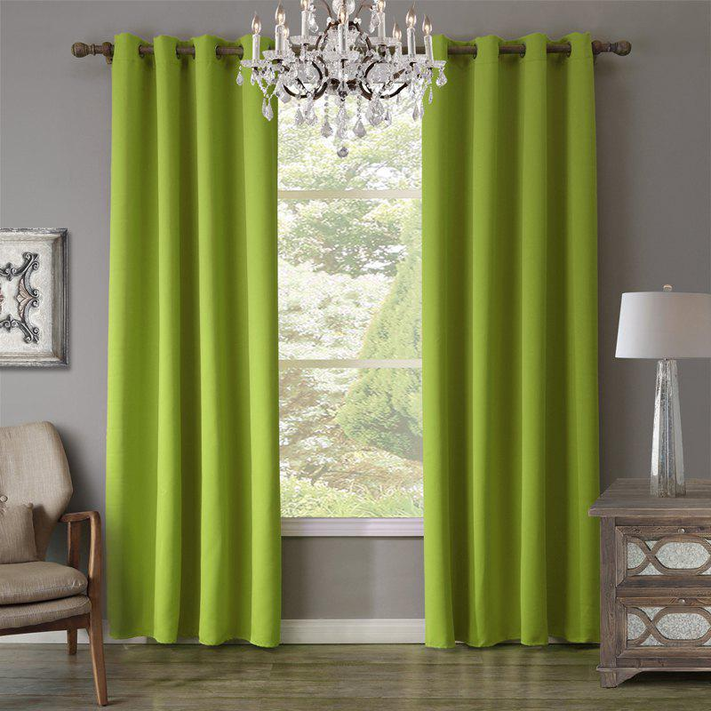 Cheap c20932 BBJHOME Green Blackout Curtain For Livingroom