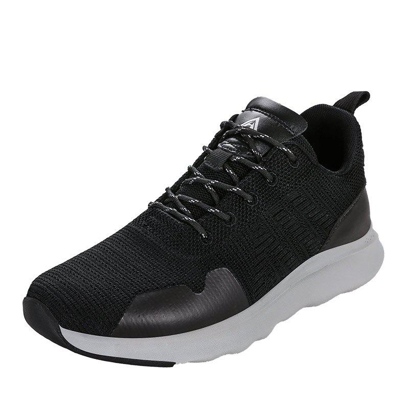 New HUMTTO Running Shoes Men Lightweight Cushioning PU Fabric Sneakers