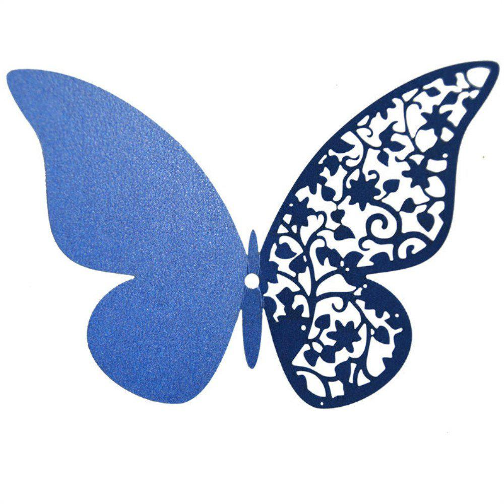 Store 12 pcs Butterfly  Half-hollow Colorful Wall Sticker Room Decoration