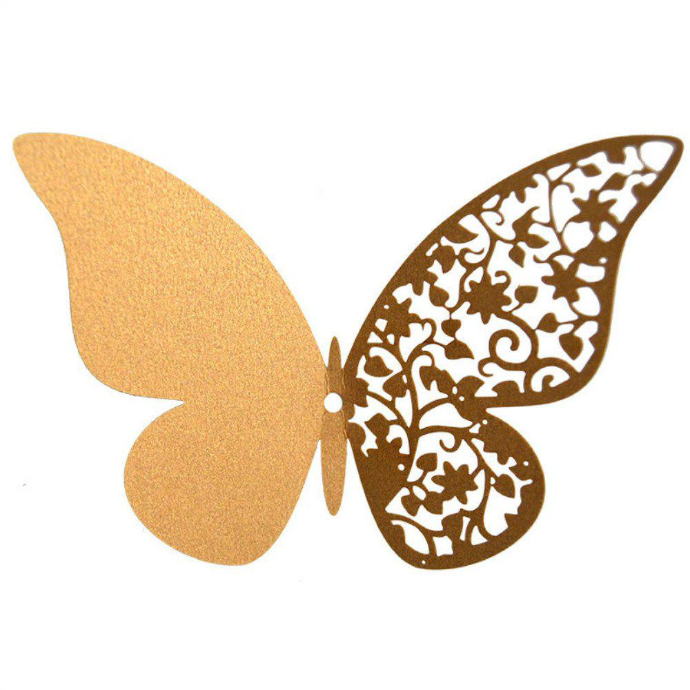 Unique 12 pcs Butterfly  Half-hollow Colorful Wall Sticker Room Decoration