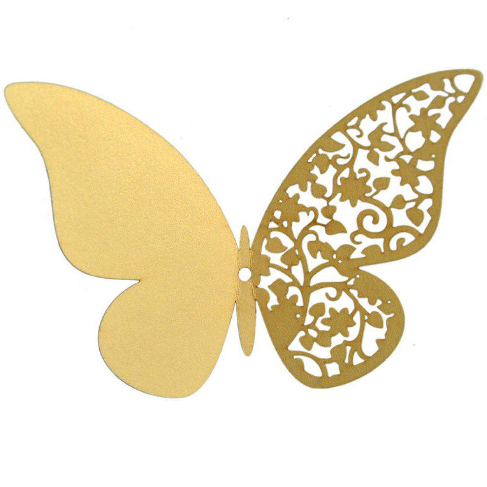 Trendy 12 pcs Butterfly  Half-hollow Colorful Wall Sticker Room Decoration