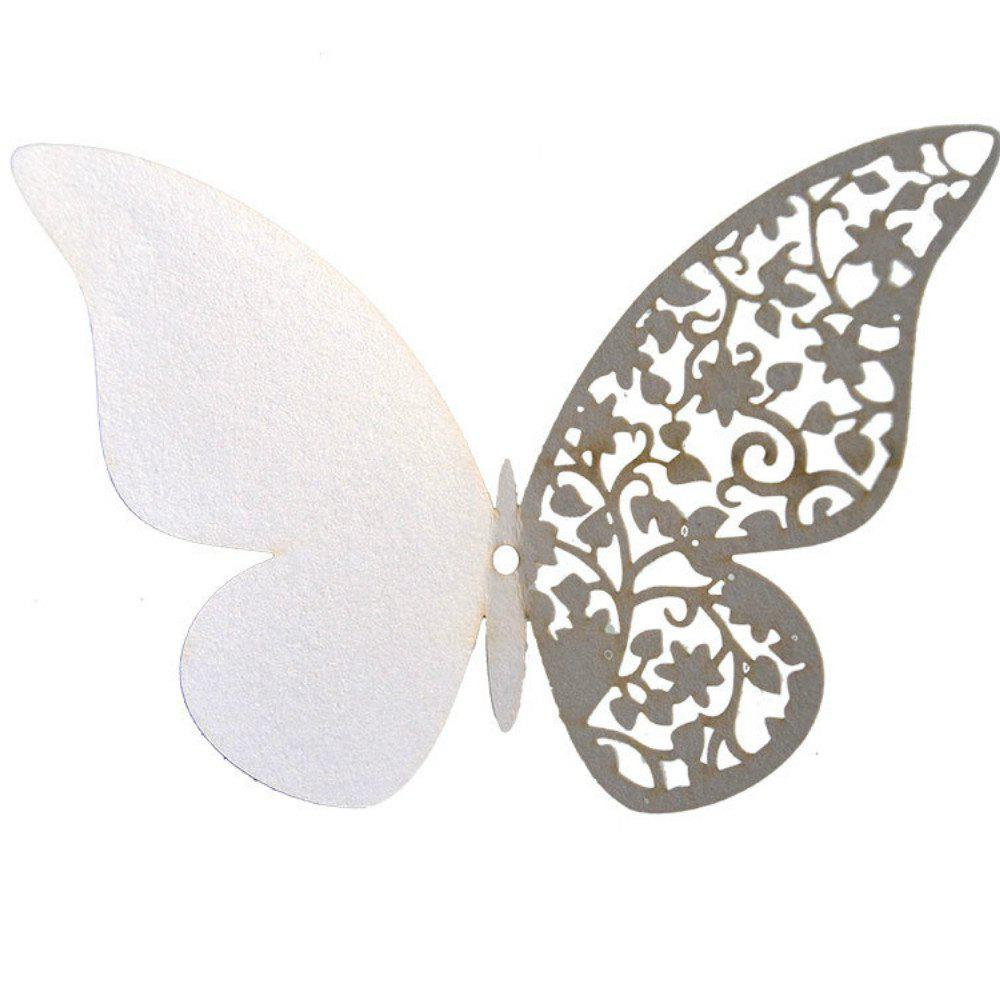 Discount 12 pcs Butterfly  Half-hollow Colorful Wall Sticker Room Decoration