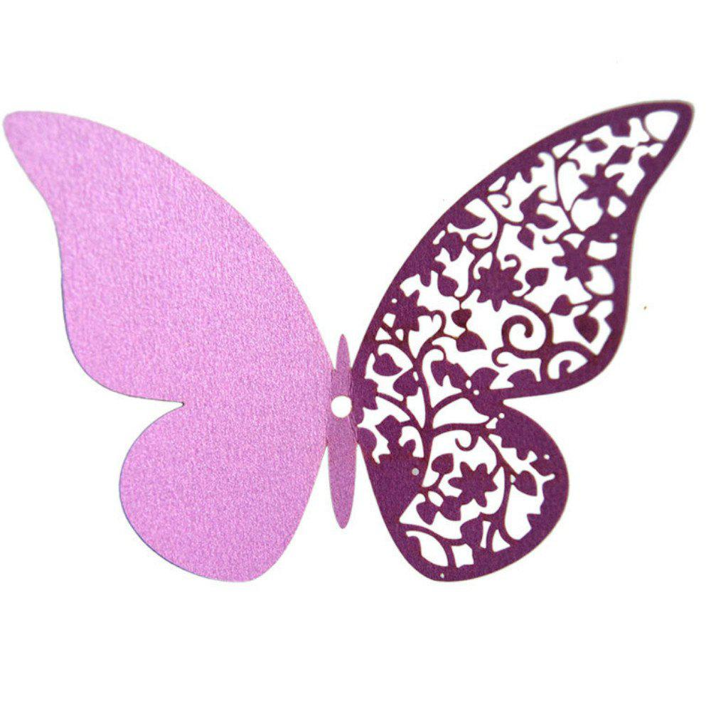 Hot 12 pcs Butterfly  Half-hollow Colorful Wall Sticker Room Decoration