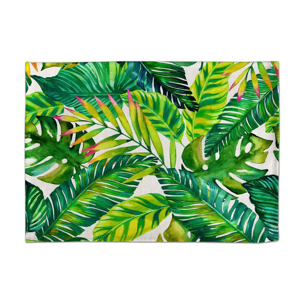 Trendy Coloured Drawing Or Pattern of Banana Digital Single - Sided Printed Linen Table