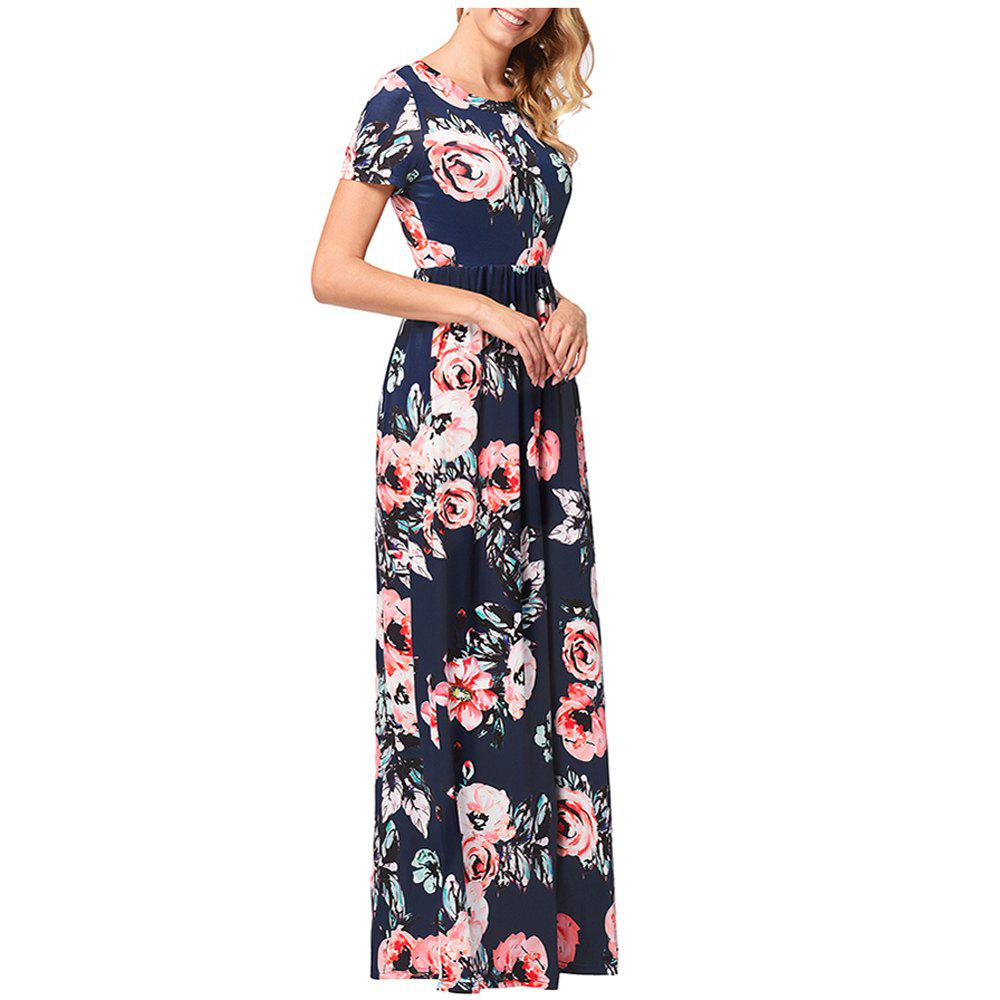 Shop Women's Short Sleeved Round Necktie Printed Skirt