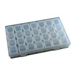 Manicure Tool Jewelry Box 28 Cases Separate Storage Box Plastic Storage Box -