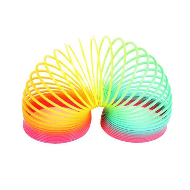 Affordable Magic Plastic Slinky Rainbow Spring Colorful New Children Funny Classic Toy