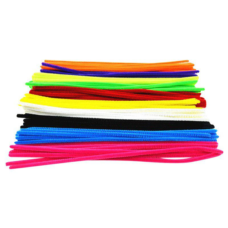 Cheap Colorful Chenille Materials Wool Stick 100PCS