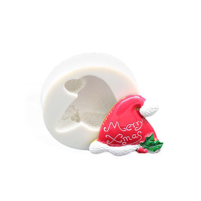 Hot Christmas Hat Silicone Fondant Mould Chocolate Cake Decorating Tool