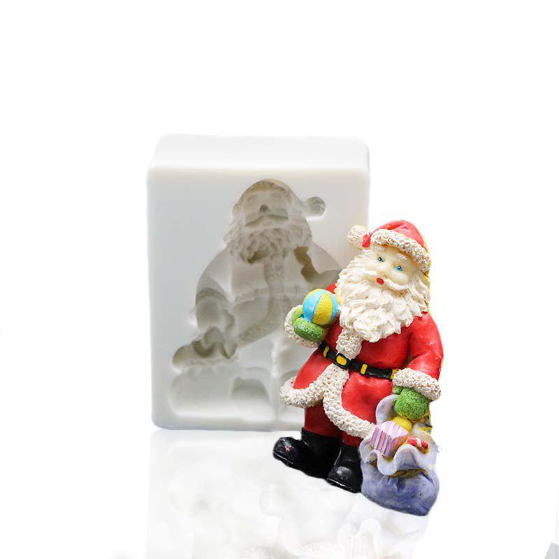 Buy Christmas Santa Claus Fondant Silicone Mold Cake Decorating Tools Polymer Clay