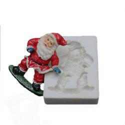 Santa Claus Sled Silicone Mold Christmas Cake Decorating Fondant Molds DIY Cupca -