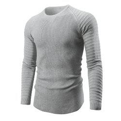 Men's Knit Pullover Ribbed Striped Sweater Sweater -