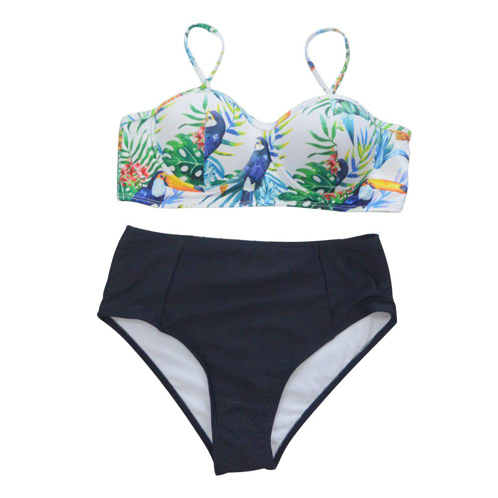 Affordable SleeWIM Digital Printing High Waist Swimsuit
