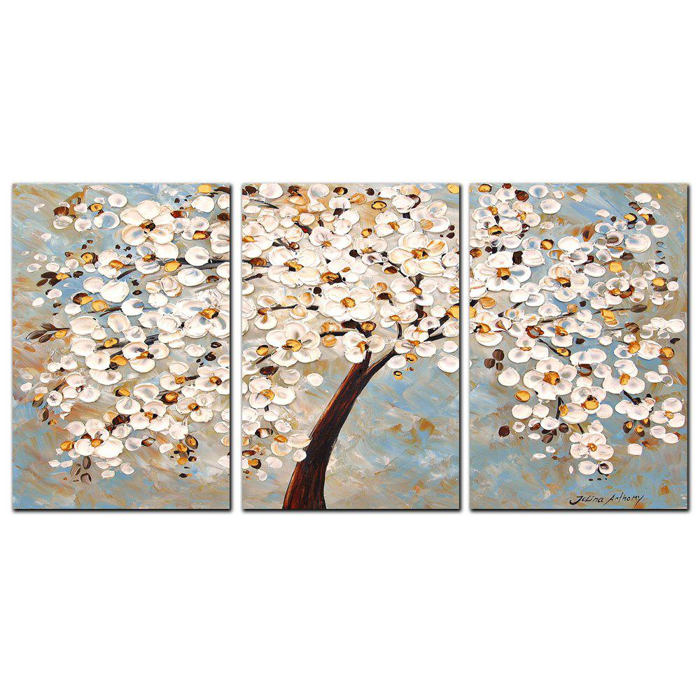 Buy YISHIYUAN 3 Pcs HD Inkjet Paints White Abstract Rich Tree Decorative Painting