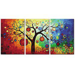 YISHIYUAN 3 Pcs HD Inkjet Paints Colorful tree Decorative Painting -